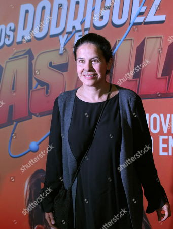 Stock Image of Arcelia Ramirez poses on the red carpet during the movie premiere of 'Los Rodriguez y el Mas Alla' (The Rodriguez and the Far Side), in Mexico City, Mexico, 29 October 2019. The movie, produced in Spain, will open on 31 October 2019.