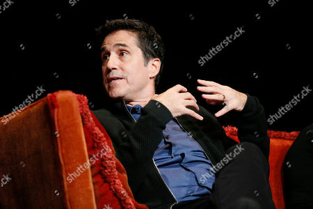 """Stock Picture of Mac Quayle, composer for """"American Horror Story"""" speaks at the membership event, """"Hollywood Horror: Scaring Up an Audience for Television,"""" at the Wolf Theatre at the Saban Media Center at the Television Academy, in Los Angeles"""