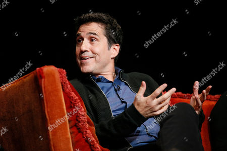 """Stock Photo of Mac Quayle, composer for """"American Horror Story"""" speaks at the membership event, """"Hollywood Horror: Scaring Up an Audience for Television,"""" at the Wolf Theatre at the Saban Media Center at the Television Academy, in Los Angeles"""