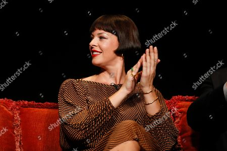 """Pollyanna McIntosh from """"The Walking Dead"""" participates in the membership event, """"Hollywood Horror: Scaring Up an Audience for Television,"""" at the Wolf Theatre at the Saban Media Center at the Television Academy, in Los Angeles"""