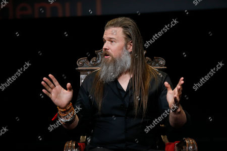 "Ryan Hurst from ""The Walking Dead"" participates in the membership event, ""Hollywood Horror: Scaring Up an Audience for Television,"" at the Wolf Theatre at the Saban Media Center at the Television Academy, in Los Angeles"