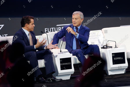 Anthony Scaramucci, Martin Sorrell. Former White House communications director Anthony Scaramucci, left, and former WPP Chief Executive Martin Sorrell, attend a discussion panel during the Future Investment Initiative forum in Riyadh, Saudi Arabia