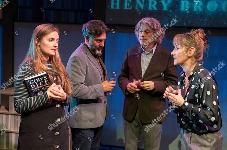 Stock Picture of Leila Mimmack as Edie, Alan Davies as Henry, Nitin Ganatra as Tim, Alexandra Gilbreath as Virginia