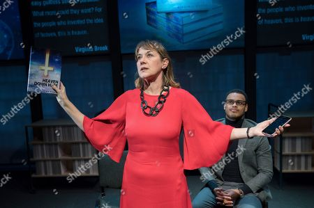 Alexandra Gilbreath as Virginia, Adam Strawford as the Interlocutor