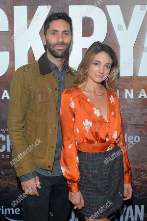 Stock Photo of Nev Schulman and Laura Perlongo attend the Season Two Premiere of Tom Clancy's Jack Ryan at Metrograph in New York City.