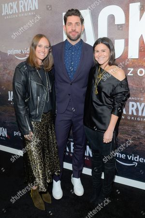 Stock Picture of John Krasinski (C) and guests attend the Season Two Premiere of Tom Clancy's Jack Ryan at Metrograph in New York City.
