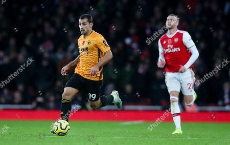 Jonny of Wolves  & Calum Chambers of Arsenal