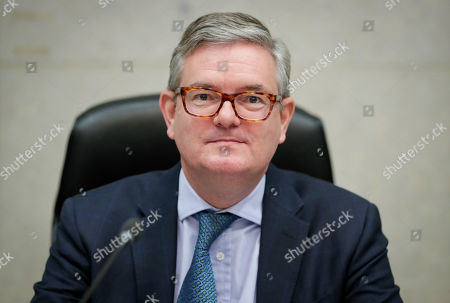 European Commissioner for the Security Union, Julian King, attends the weekly college meeting of the European Commission in Brussels, Belgium, 30 October 2019.