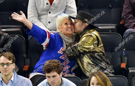 Editorial photo of Celebrities at Tampa Bay Lightning v New York Rangers NHL ice hockey match, Madison Square Garden, New York, USA - 29 Oct 2019