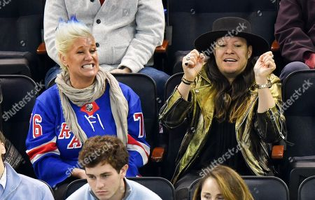 Anne Burrell and guest attend Tampa Bay Lightning vs New York Rangers game at Madison Square Garden