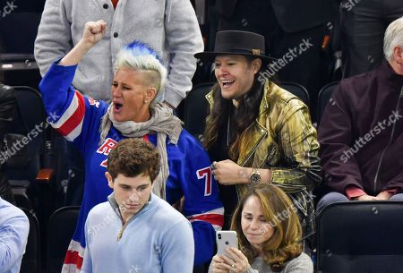 Editorial picture of Celebrities at Tampa Bay Lightning v New York Rangers NHL ice hockey match, Madison Square Garden, New York, USA - 29 Oct 2019