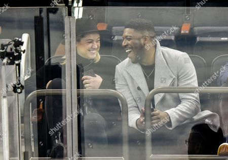 Jocko Sims attends Tampa Bay Lightning vs New York Rangers game at Madison Square Garden