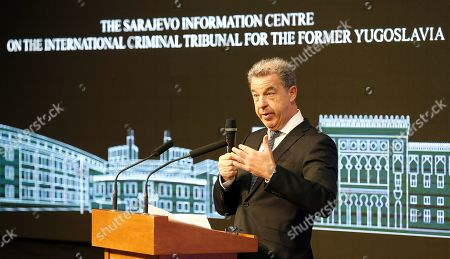 Editorial picture of Hague Chief Prosecutor Serge Brammertz in Sarajevo, Bosnia, Bosnia And Herzegovina - 30 Oct 2019