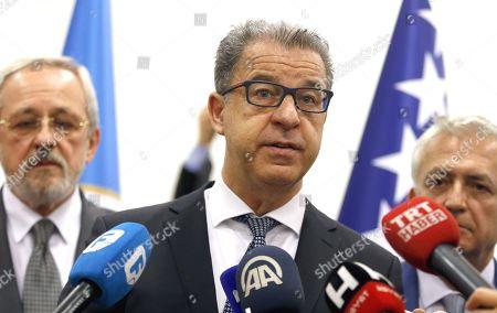 Editorial image of Hague Chief Prosecutor Serge Brammertz in Sarajevo, Bosnia, Bosnia And Herzegovina - 30 Oct 2019