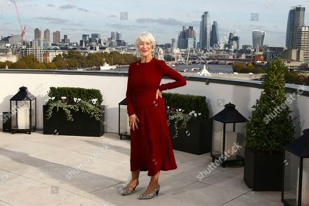 Dame Helen Mirren poses for photographers at the photo call for the film 'The Good Liar' at a central London hotel