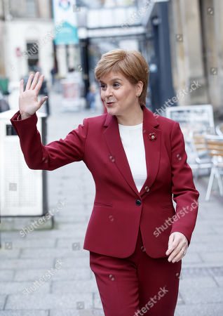 First Minister and SNP leader Nicola Sturgeon  joins Alyn Smith, the SNP?s candidate for Stirling, on the campaign trail, in Stirling, Britain, 30 October 2019.