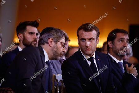 Anne Hidalgo, Haim Korsia, Emmanuel Macron, Joel Mergui, Christophe Castaner, Franck Riester, Bernard Cazeneuve, Manuel Valls, Valerie Pecresse