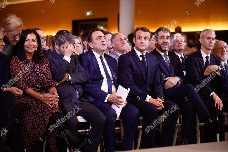 Isabelle Balkany, Anne Hidalgo, Haim Korsia, Emmanuel Macron, Joel Mergui, Christophe Castaner, Franck Riester