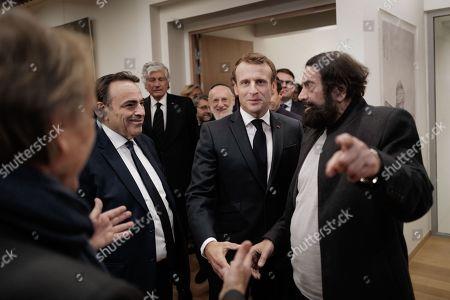 Marek Halter, Emmanuel Macron, Joel Mergui