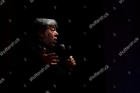 U.S. entrepreneur and co-founder of Apple Inc. Steve Wozniak speaks at the Novathon Conference in Budapest Congress Centre in Budapest, Hungary, 30 October 2019. The conference organized by CIB Bank is an event on finance innovation and digital culture transformation bringing together acclaimed international financial influencers to showcase excellence in banking and financial services.