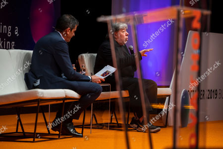 Editorial image of Co-founder of Apple Inc. Steve Wozniak in Budapest, Hungary - 30 Oct 2019