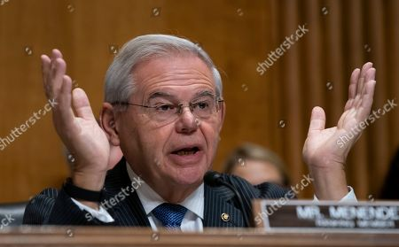"John Sullivan, Bob Menendez. Sen. Bob Menendez, the top Democrat on the Senate Foreign Relations Committee, questions Deputy Secretary of State John Sullivan, President Donald Trump's nominee to become the new U.S. ambassador to Russia, on Capitol Hill in Washington, . Menendez inquired about Trump's firing of U.S. Ambassador to Ukraine, Marie ""Masha"" Yovanovitch and pressuring that country's new president to investigate Democrats and the family of rival presidential contender Joe Biden"