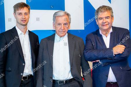 Stock Image of Joan Condijts, Costa-Gavras and Boris Portnoy