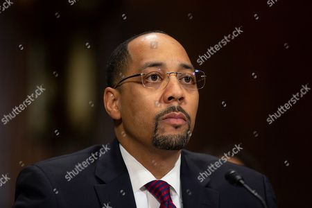 Stock Picture of Bernard Maurice Jones II, nominated to be United States District Judge for the Western District of Oklahoma, appears at his nomination hearing before the U.S. Senate Committee on the Judiciary