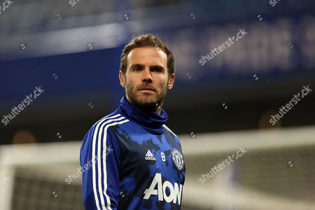 Juan Mata of Manchester United before Chelsea vs Manchester United, Caraboa Cup Football at Stamford Bridge on 30th October 2019