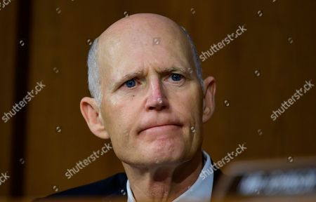 United States Senator Rick Scott (Republican of Florida) listens as Dennis Muilenburg, President and Chief Executive Officer, The Boeing Company and John Hamilton, Vice President and Chief Engineer, Boeing Commercial Airplanes, testify before the United States Senate Commerce, Science, and Transportation on 'Aviation safety and the future of Boeing's 737 MAX'