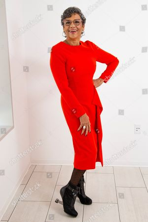 """Stock Picture of This photo shows actress Sonia Manzano posing for a portrait in New York to promote her new animated series """"The Casagrandes"""