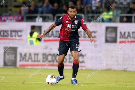Stock Picture of Cagliari's Radja Nainggolan (R) and Bologna's Blerim Dzemaili in action during the Italian Serie A soccer match Cagliari Calcio vs Bologna FC at Sardegna Arena stadium in Cagliari, Sardinia island, Italy, 30 October 2019