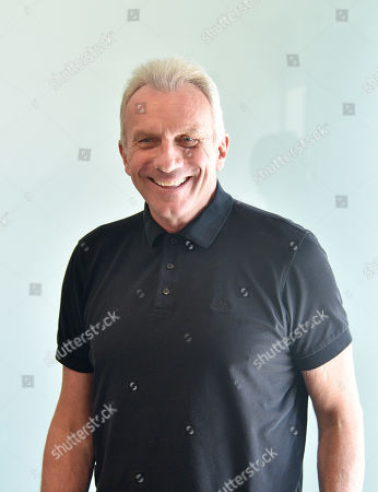 Hall of Fame quarterback Joe Montana poses at the Trinity Surgery Center, Montana is having a procedure to implant an electroceutical pain relieving device 'Stimwave Freedom Stimulator'