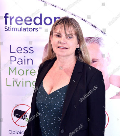 CEO / Founder of Stimwave, Laura Perryman poses at the Trinity Surgery Center, Montana is having a procedure to implant an electroceutical pain relieving device 'Stimwave Freedom Stimulator'