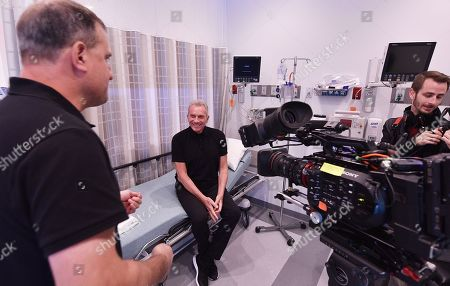 Hall of Fame quarterback Joe Montana is seen at the Trinity Surgery Center, Montana is having a procedure to implant an electroceutical pain relieving device 'Stimwave Freedom Stimulator'