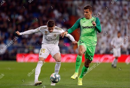Real Madrid CF's Fede Valverde and CD Leganes's Christian Rivera