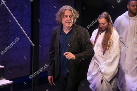 Alan Davies (Henry) during the curtain call