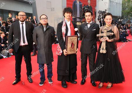 Stock Image of Takumi Saito, Misuzu Kanno and Kazuki Kitamura