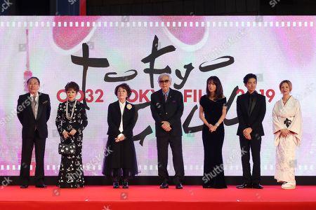 Stock Photo of Gin Maeda, Ruriko Asaoka, Chieko Baisho, Yoji Yamada, Kumiko Goto, Hidetaka Yoshioka and Mari Natsuki