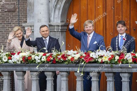 Stock Photo of President Andrzej Duda, Agata Kornhauser-Duda and King Willem-Alexander