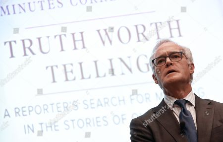 Stock Photo of CBS News journalist and author Scott Pelley