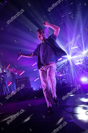 Editorial image of Friendly Fires in concert at the Roundhouse, London, UK - 30 Oct 2019