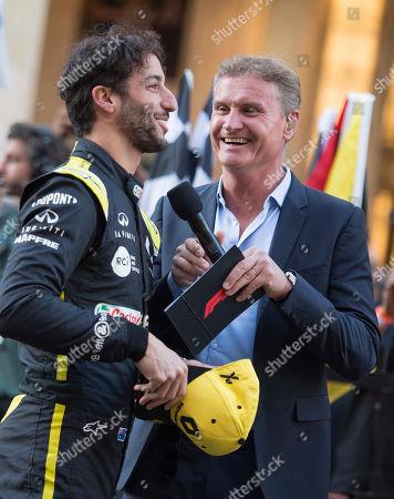 Daniel Ricciardo and David Coulthard
