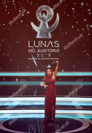 Gloria Trevi receives the career award during 'Las Lunas del Auditorio 2019' awards ceremony in Mexico City, Mexico, 30 October 2019.