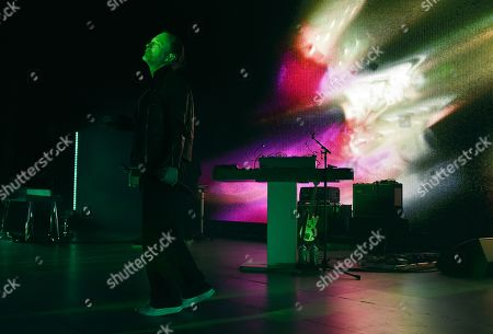 Thom Yorke performs onstage at the Greek Theatre, in Los Angeles