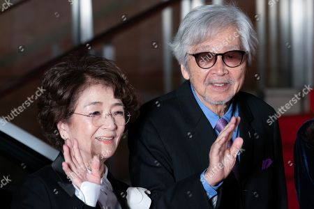 Stock Photo of Chieko Baisho and Yoji Yamada