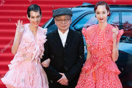 Stock Image of Kiko Mizuhara, Haruomi Hosono and Yuka Mizuhara