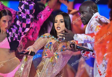 Stock Image of Becky G and Akon