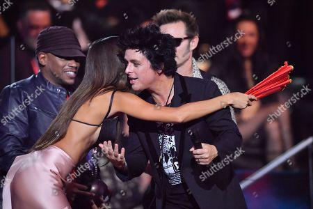 Joan Smalls and Green Day - Billie Joe Armstrong