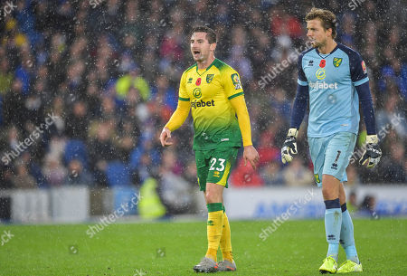 Kenny McLean of Norwich City and Tim Krul of Norwich City